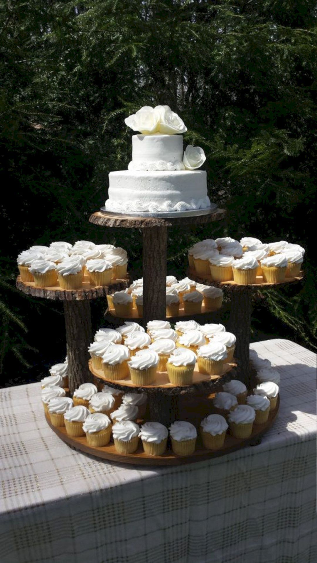 Wedding Cake Stands For Cupcakes  Rustic Wedding Cake Cupcake Stand Design – OOSILE