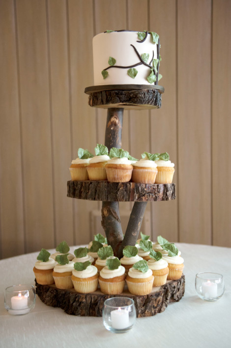 Wedding Cake Stands For Cupcakes  Aspen Colorado Mountain Wedding Megan Bobby Rustic