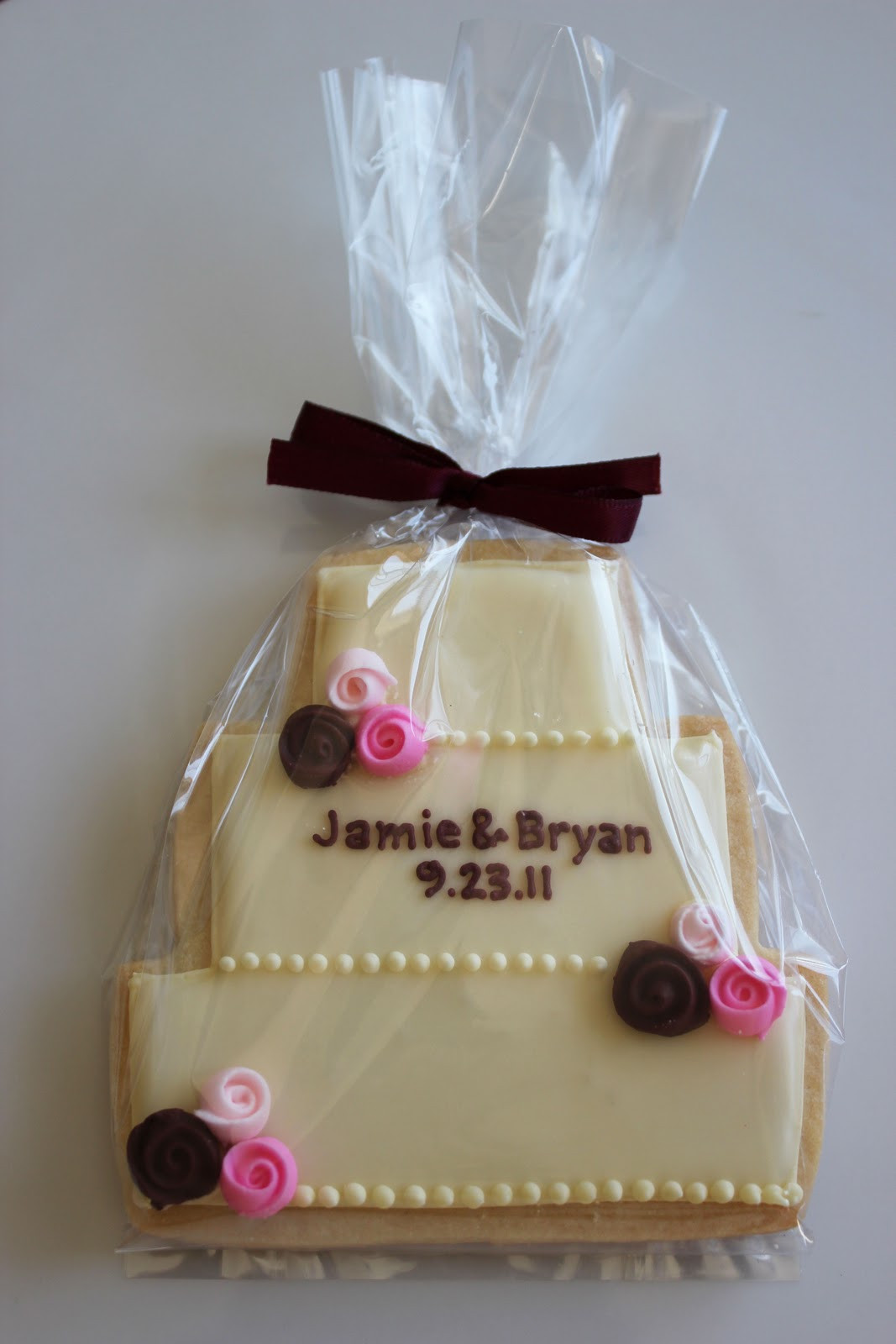 Wedding Cake Sugar Cookies  Sugar Mama Cookies Wedding Cake Cookies with Roses