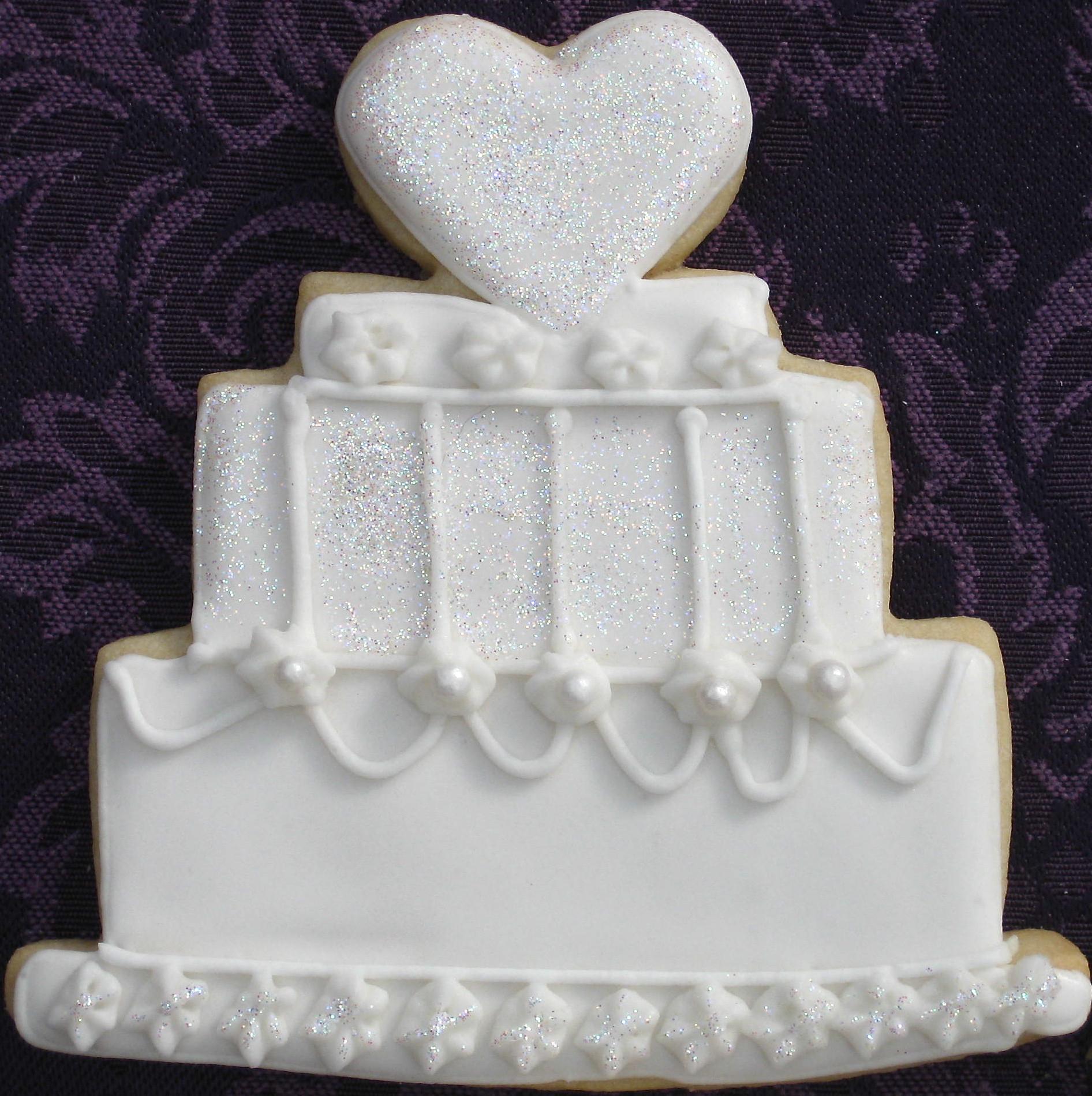 Wedding Cake Sugar Cookies  Wedding Cake Cookies