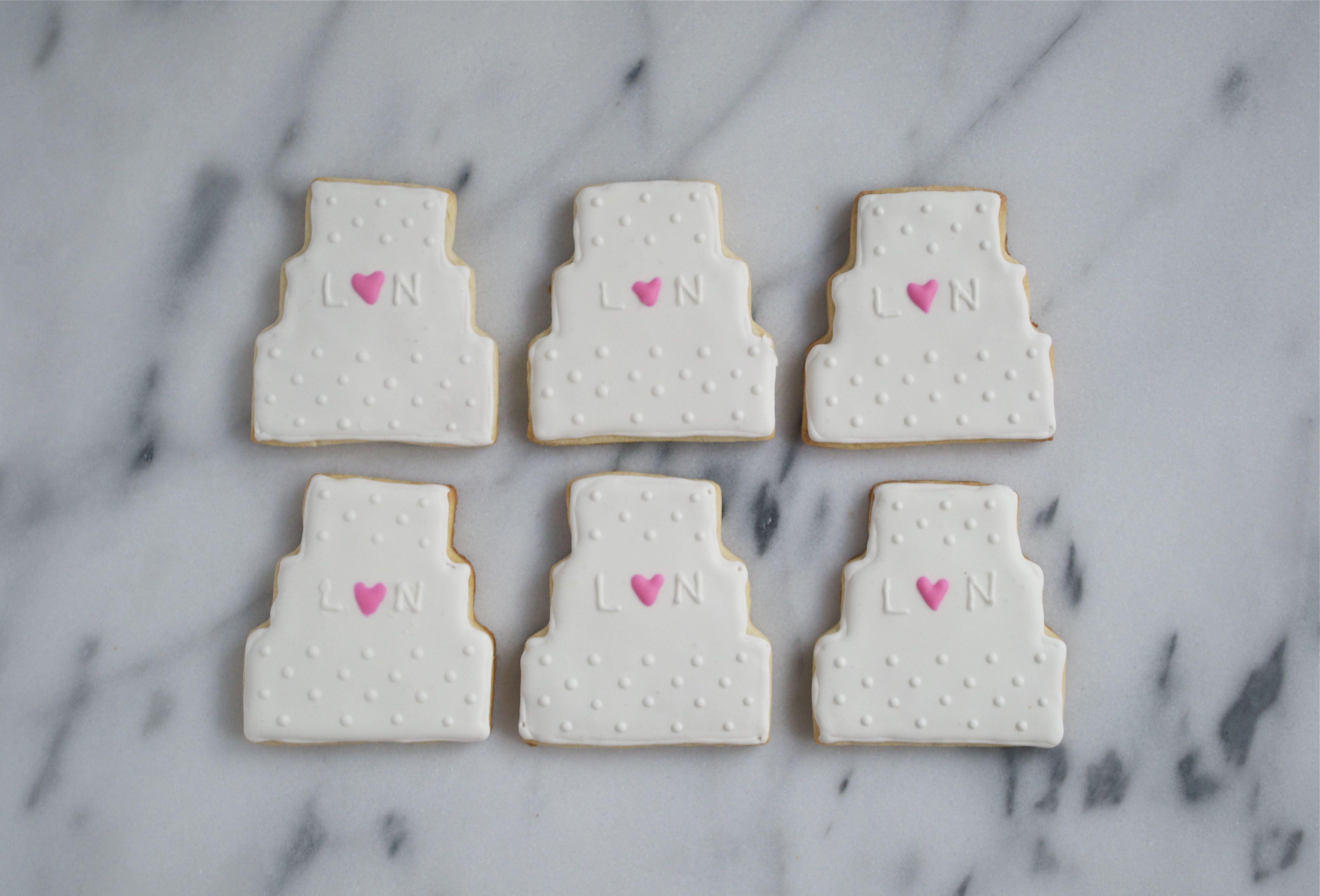 Wedding Cake Sugar Cookies  Wedding Cake Sugar Cookies A Dash of Megnut