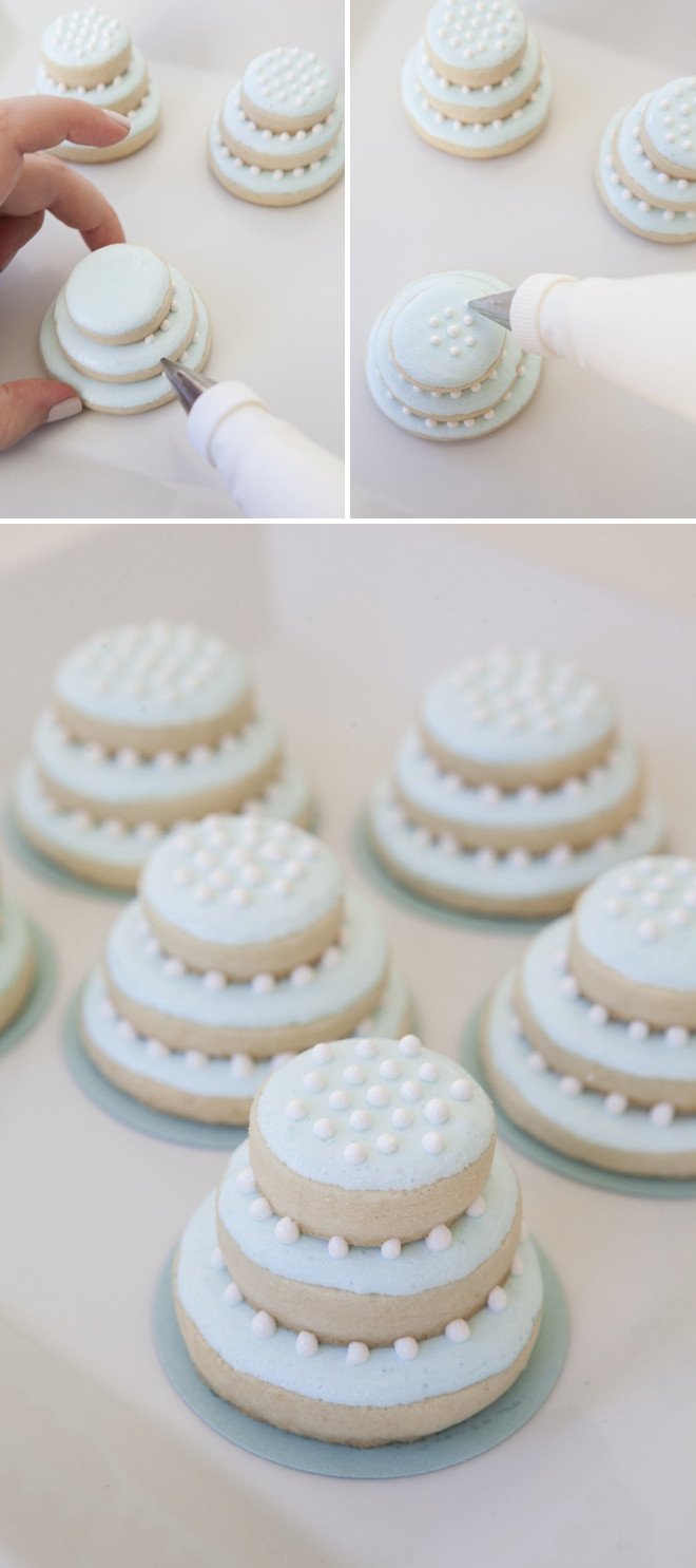 Wedding Cake Sugar Cookies  Learn how to make these darling stacked wedding cookies