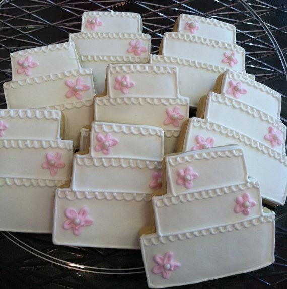 Wedding Cake Sugar Cookies  119 best images about wedding on Pinterest