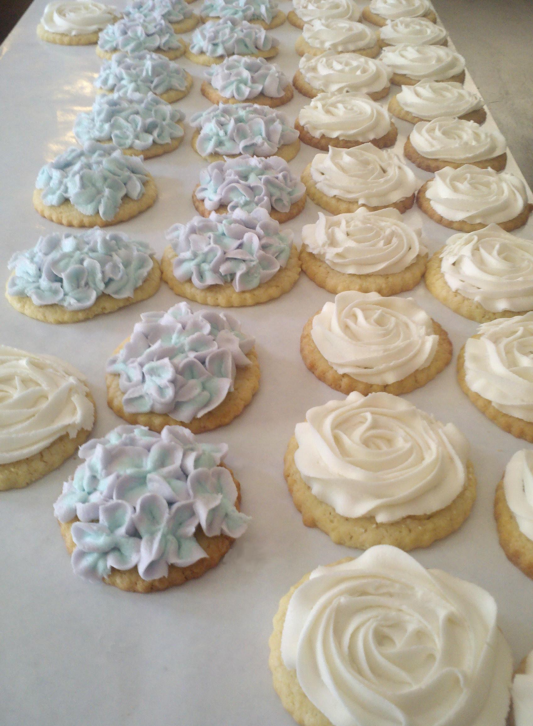 Wedding Cake Sugar Cookies  wedding cookies