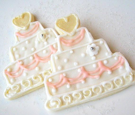 Wedding Cake Sugar Cookies  Wedding Cookie Favor Wedding Cake Sugar Cookies All