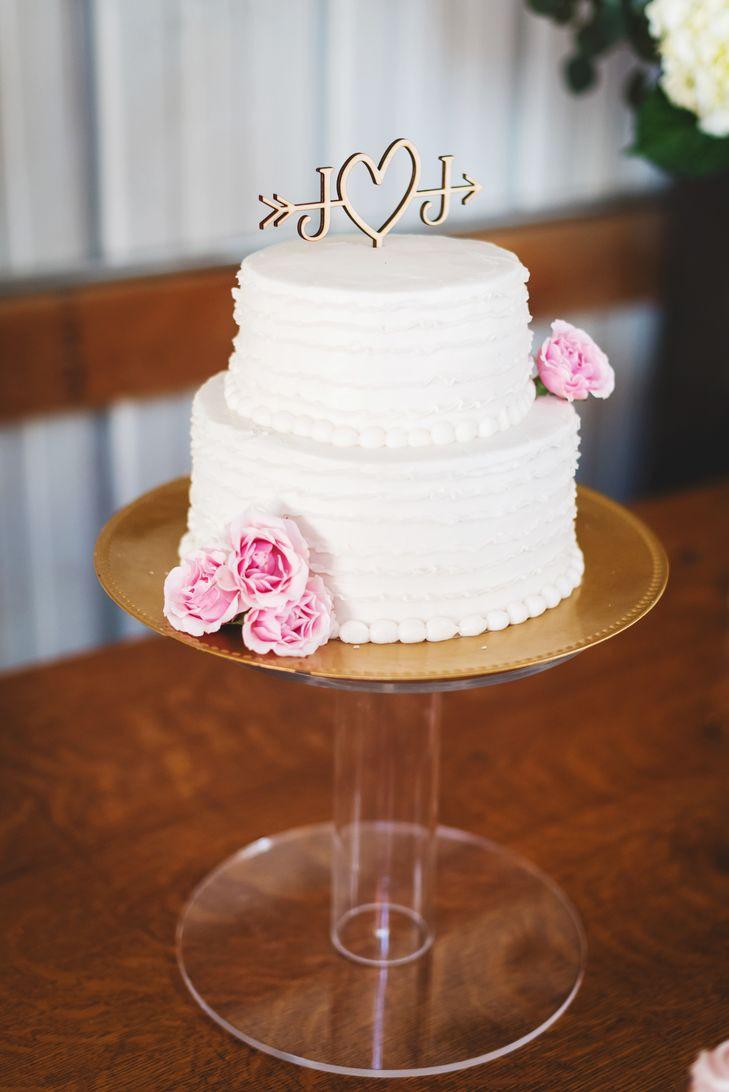 Wedding Cakes 2 Tier  Two Tiered Buttercream Wedding Cake