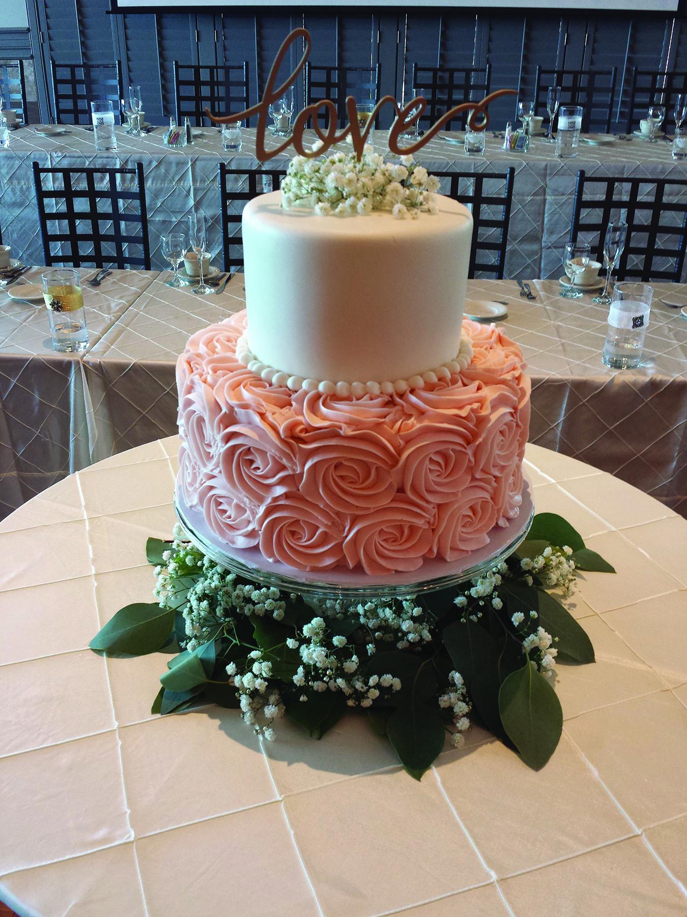 Wedding Cakes 2 Tier  Jessa cake two tier buttercream wedding cake with smooth