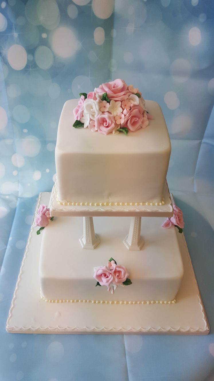 Wedding Cakes 2 Tier  2 Tier Wedding cake Ravens Bakery of Es Ltd