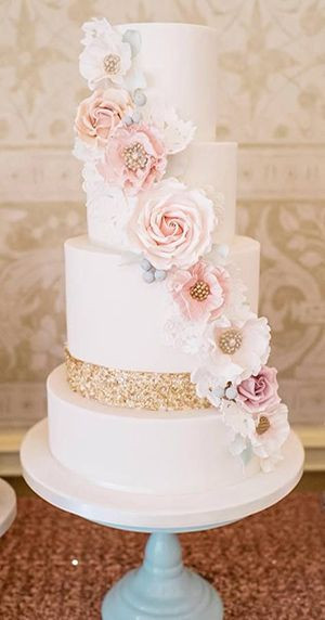 Wedding Cakes 2017  2017 Wedding Cake Trends – Dipped In Lace
