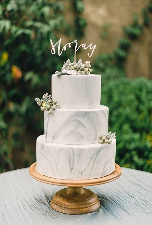 Wedding Cakes 2018  15 Simple but Elegant Wedding Cakes for 2018