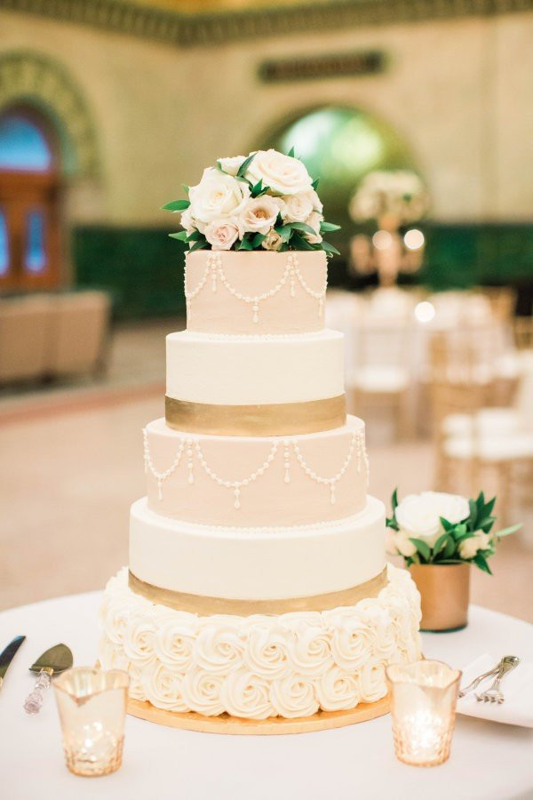 Wedding Cakes 2018  Trending 15 Creative Metallic Wedding Cakes for 2018 Oh