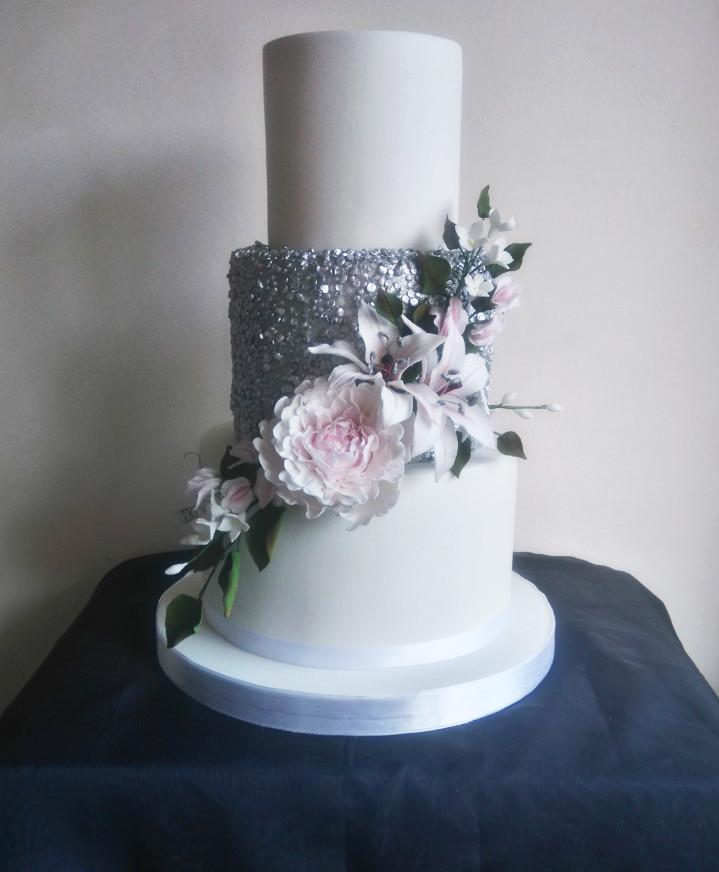 Wedding Cakes 3 Tier  3 Tier Wedding Cakes – classic cakes – Sugar Flowers
