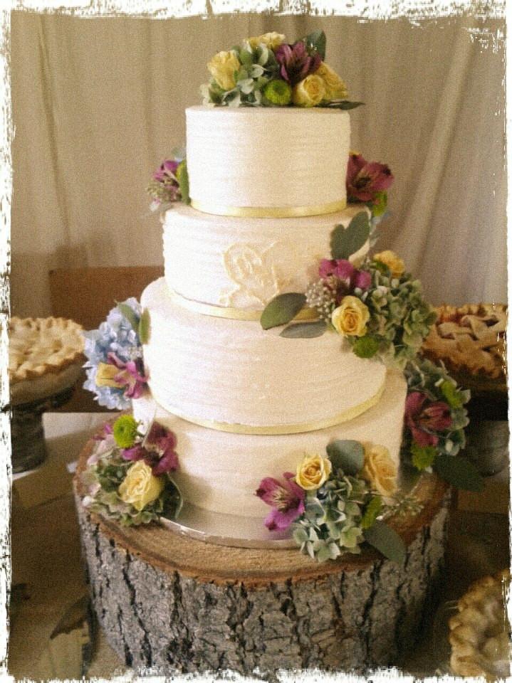 Wedding Cakes 4 Tier  Party Cakes Rustic 4 Tier Wedding Cake