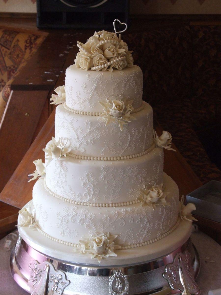 Wedding Cakes 4 Tier  4 Tier Wedding Cake CakeCentral