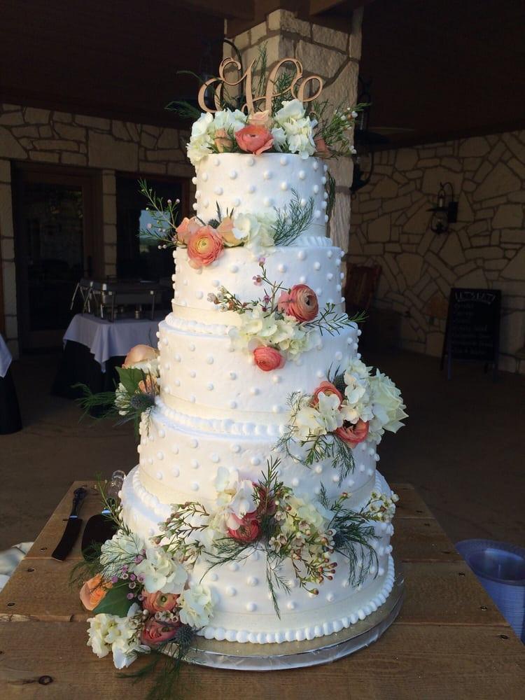 Wedding Cakes Abilene Tx  Five Tier Wedding Cake Yelp