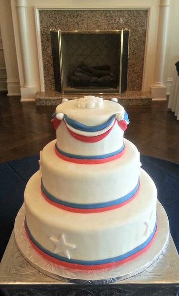 Wedding Cakes Alexandria Va  Red White And Blue Wedding Cak Alexandria