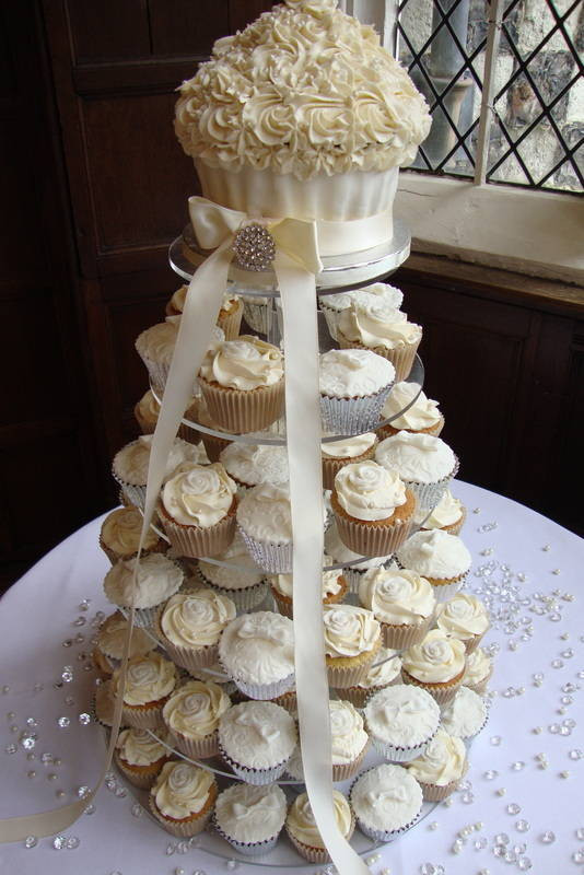 Wedding Cakes And Cup Cakes  Cupcake wedding cake prices idea in 2017