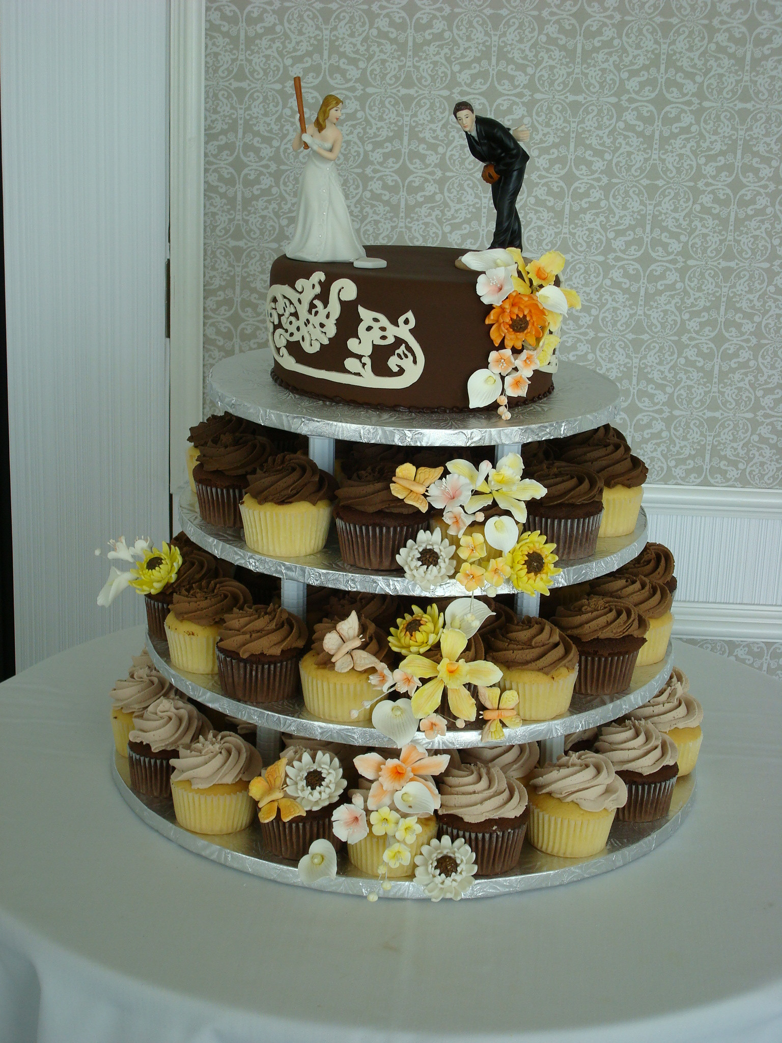 Wedding Cakes And Cupcakes  Cupcake Wedding Cakes