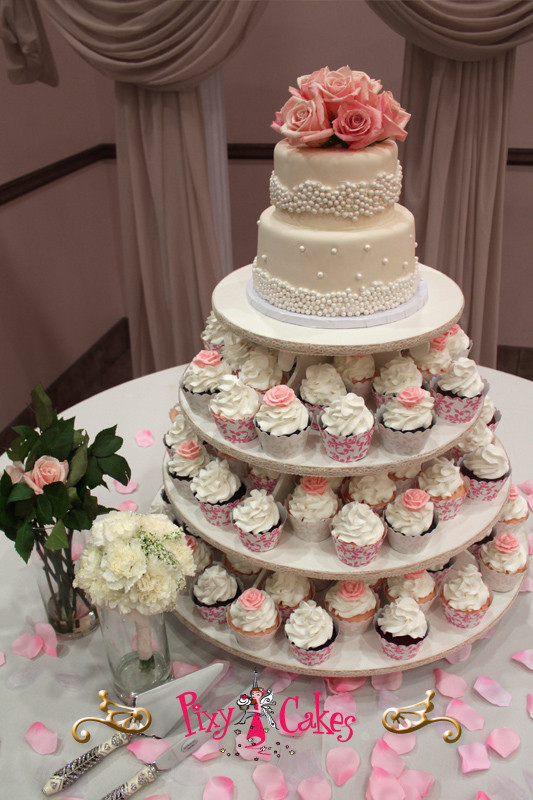 Wedding Cakes And Cupcakes  Cupcake Towers Cupcakes and Wedding Cakes – Pixy Cakes