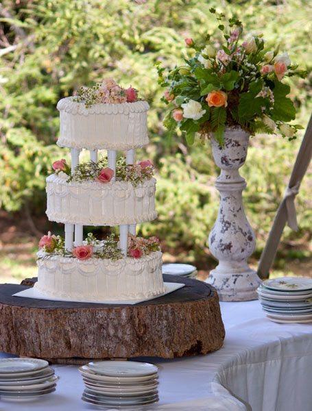 Wedding Cakes Asheville Nc  Vintage outdoor wedding cake Asheville NC • Just Simply