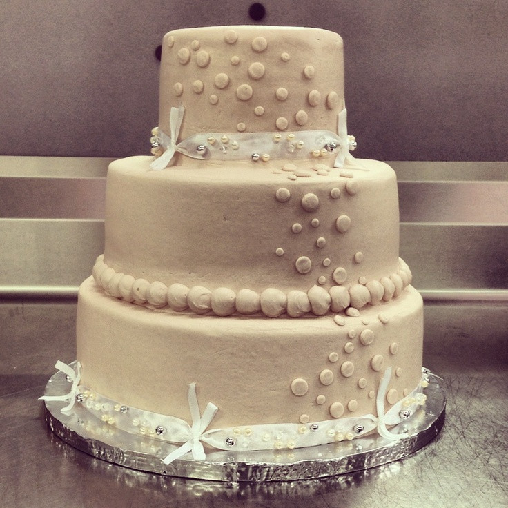 Wedding Cakes At Walmart  Basic Walmart wedding cake design 3 tier Champagne