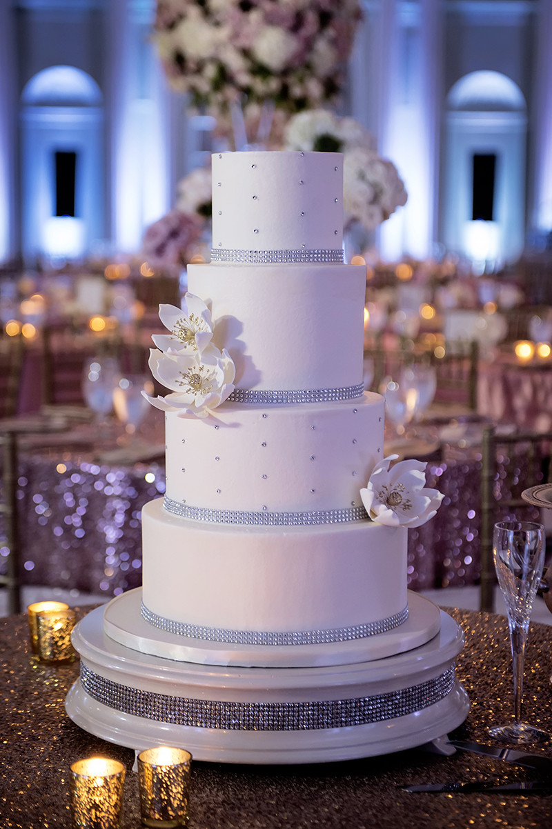 Wedding Cakes Atlanta  A Glamorous Spring Wedding at the Biltmore Ballrooms in