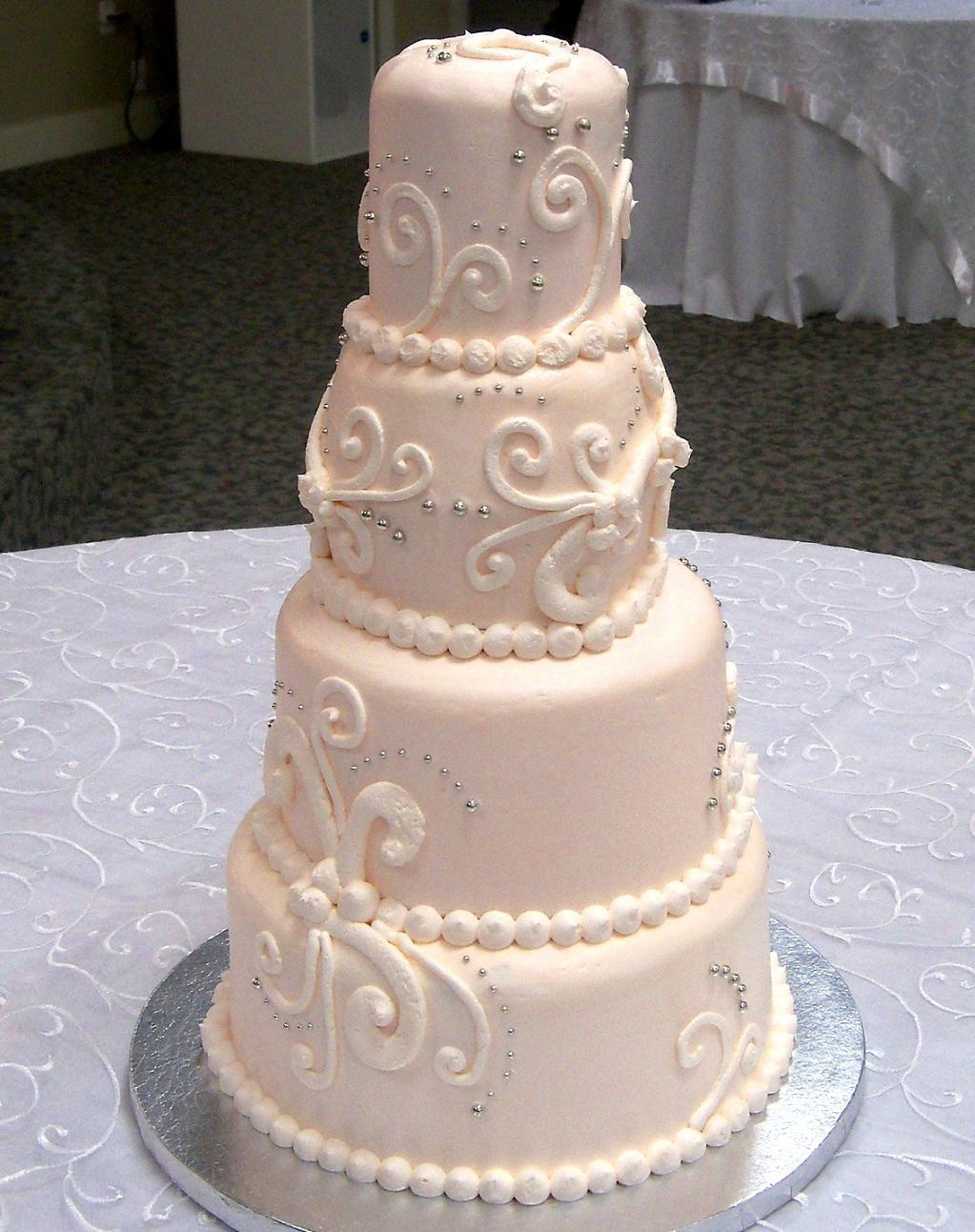 Wedding Cakes Austin  pink scroll wedding cake – haute cakes austin