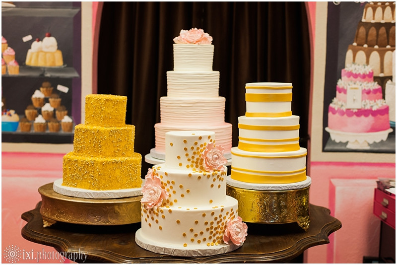 Wedding Cakes Austin Tx  Gold and Pink Wedding Cakes from Michelle's Patisserie