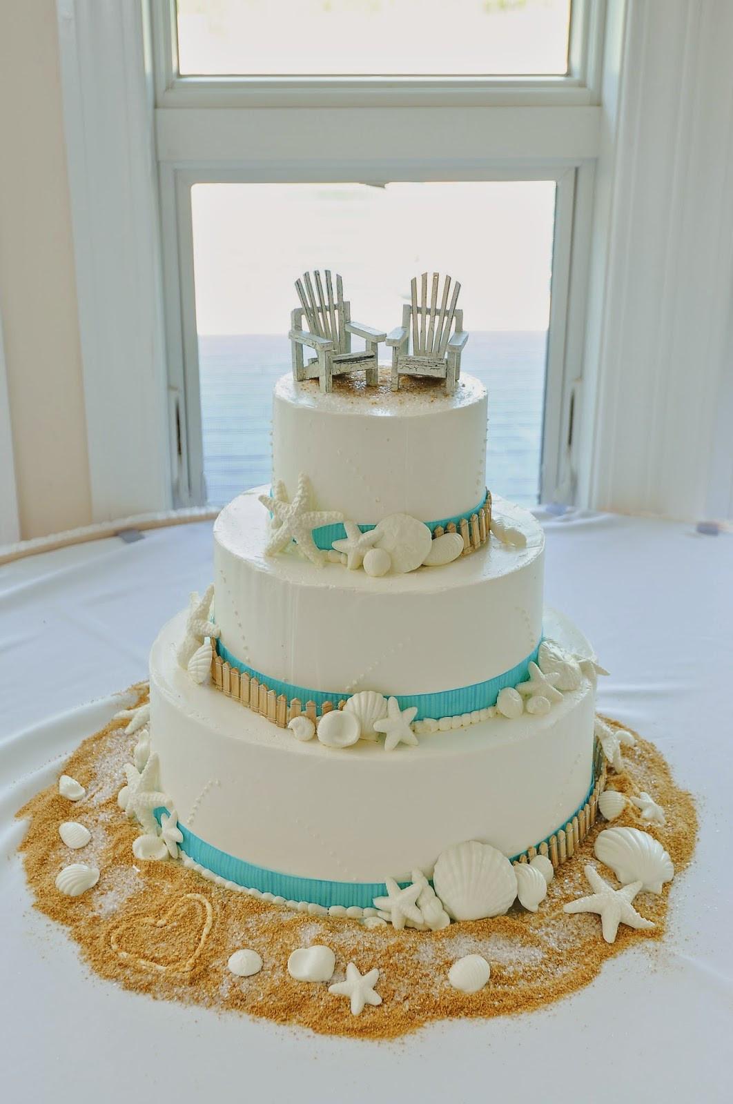 Wedding Cakes Beach  Tropical Beach Wedding Cake Toppers