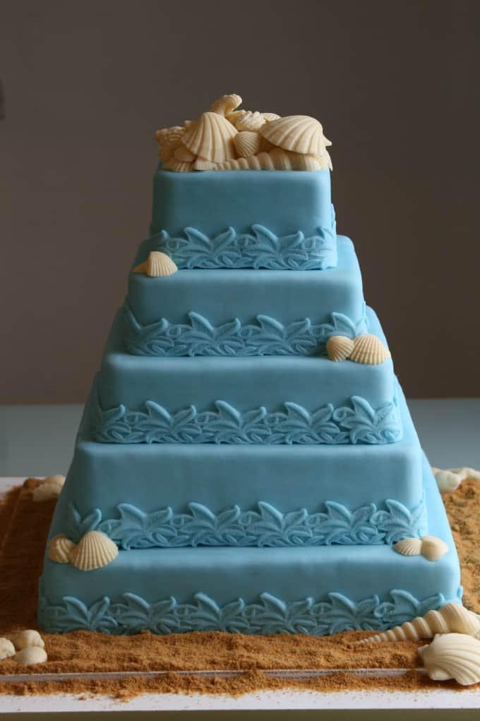 Wedding Cakes Beach Theme  Gallery of Beach Theme Wedding Cakes