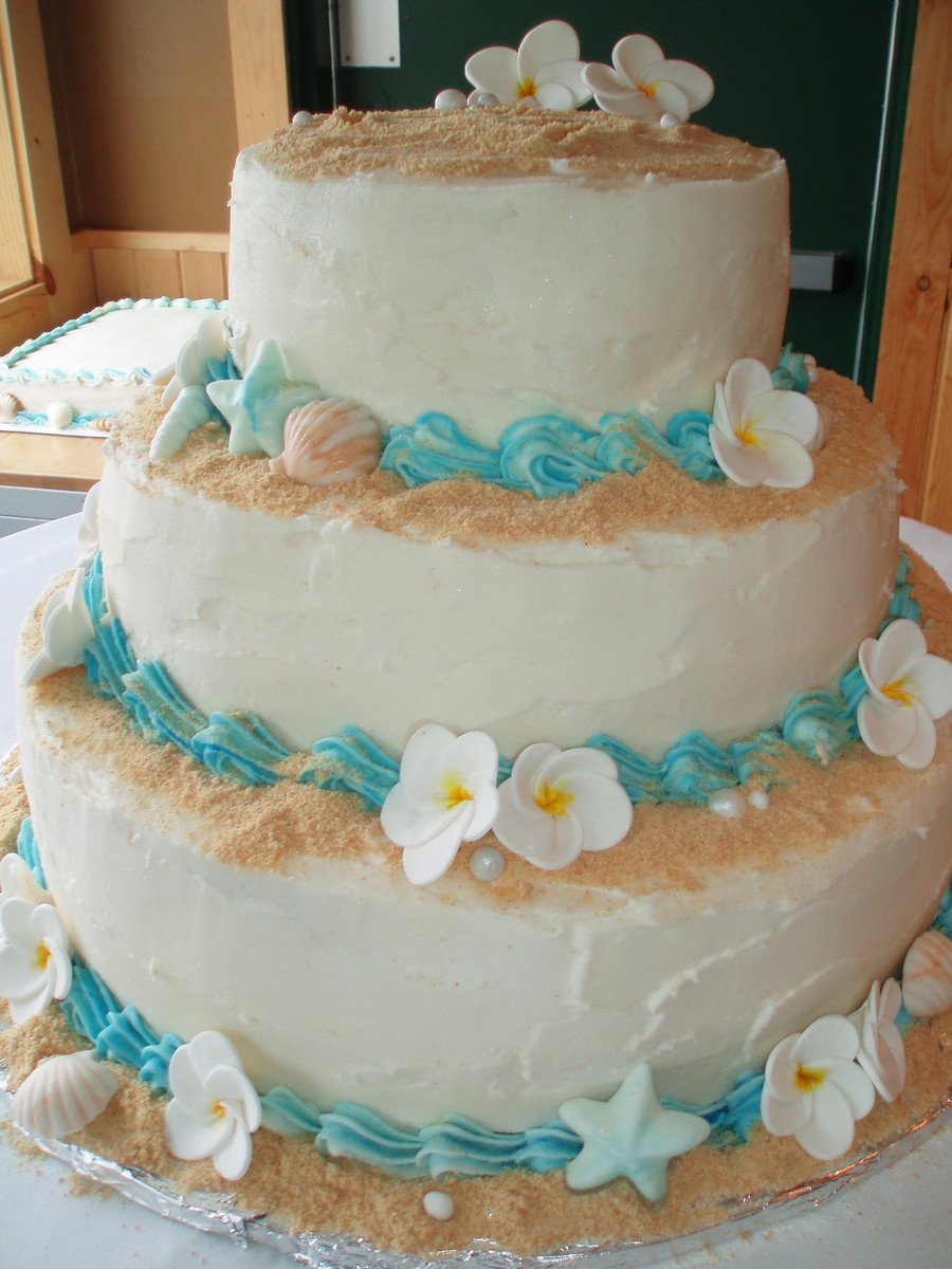 Wedding Cakes Beach Theme  Beach Wedding Cake CakeCentral
