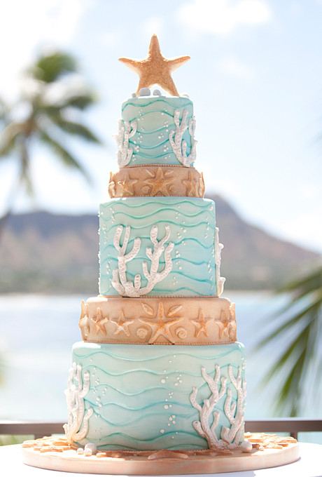 Wedding Cakes Beach Theme  beach wedding cakes
