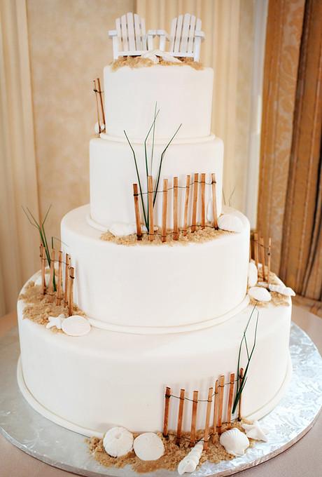 Wedding Cakes Beach Themed  seashell wedding cakes