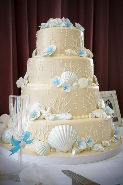 Wedding Cakes Beach Themed  Beach Wedding Cake Decorations