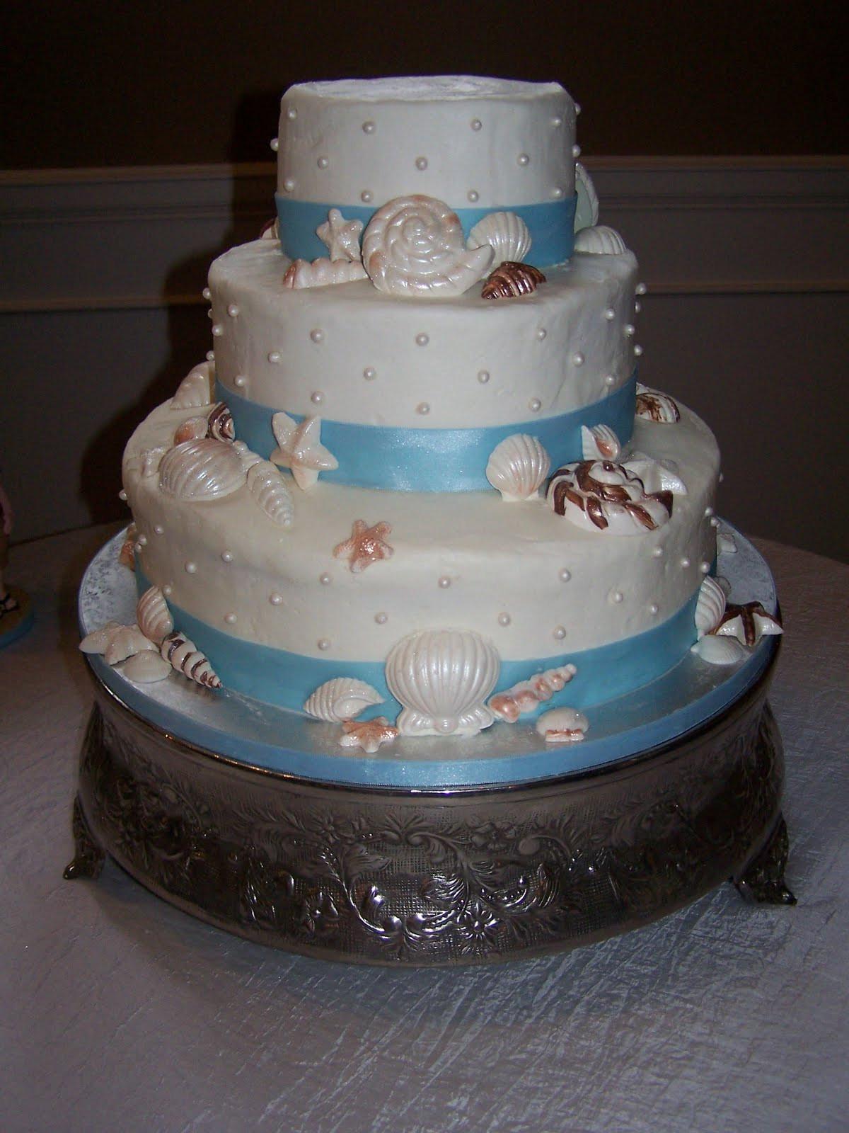 Wedding Cakes Beach Themed  Creative Cakes N More Beach Theme Wedding Cake