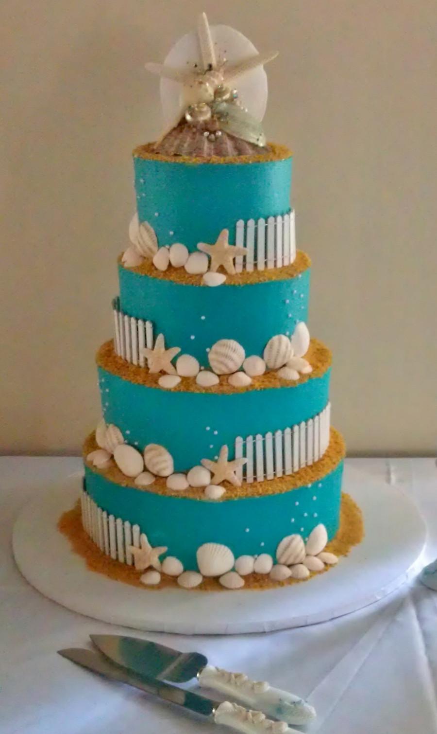 Wedding Cakes Beach Themed  Beach Themed Wedding Cake CakeCentral