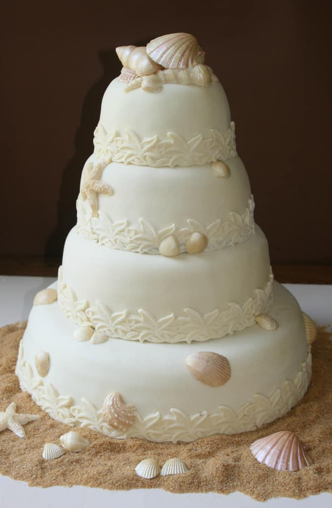 Wedding Cakes Beach Themed  Gallery of Beach Theme Wedding Cakes