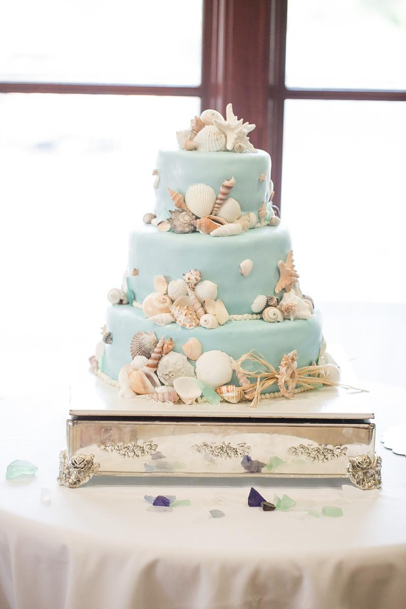 Wedding Cakes Beach Themed  Preppy Beach Wedding at Port Royal Golf Club in Hilton
