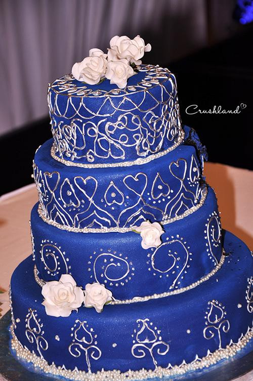 Wedding Cakes Blue And Silver  The Royal Blue & Silver Wedding Cake Paperblog