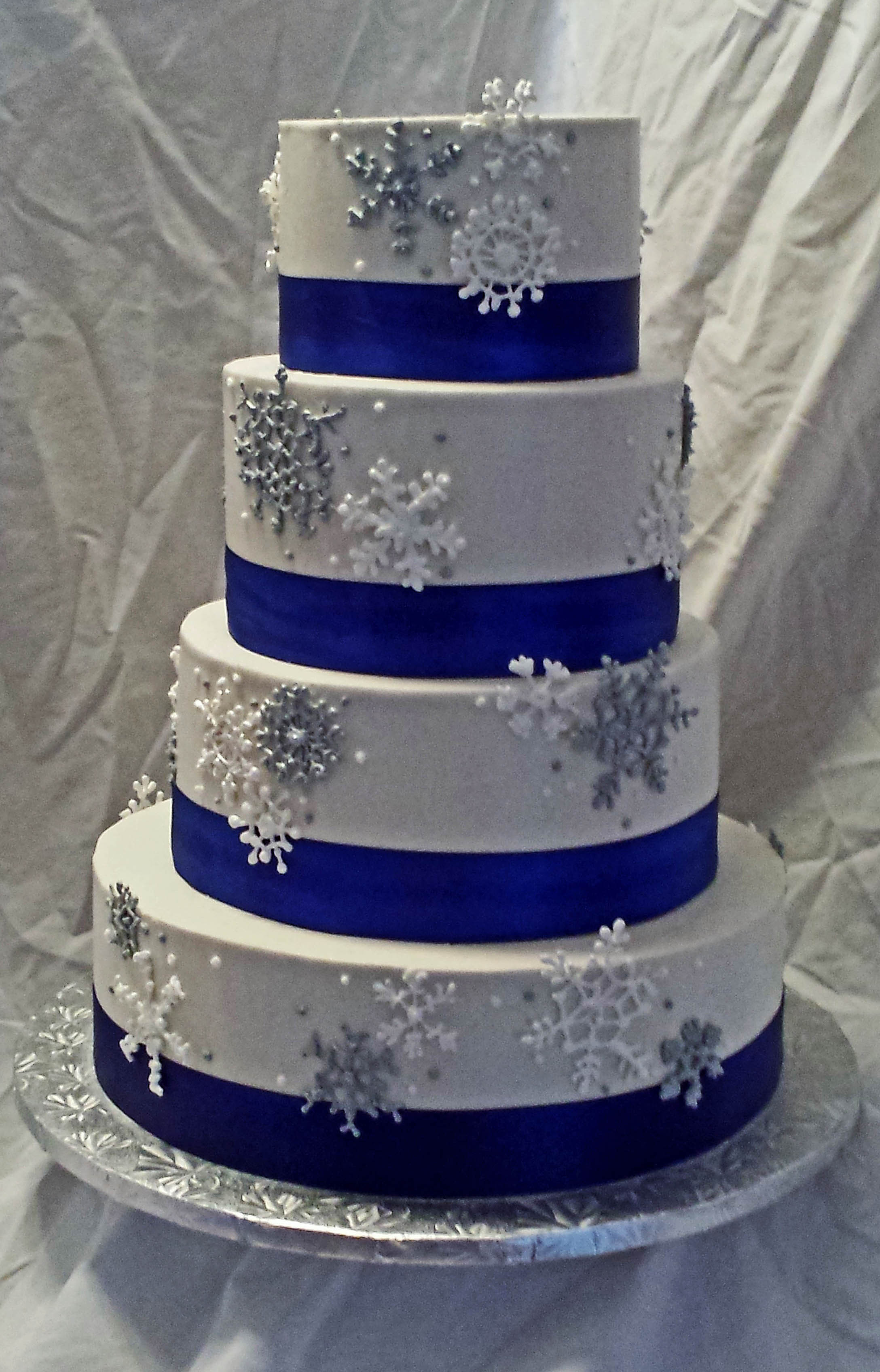 Wedding Cakes Blue And Silver  Cake Gallery Cakes Wedding Cakes Silver & Blue