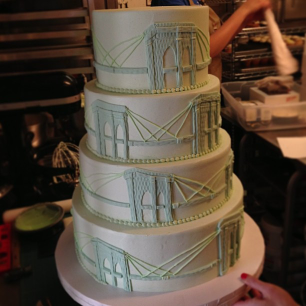 Wedding Cakes Brooklyn  Brooklyn bridge wedding cake for Sarah James