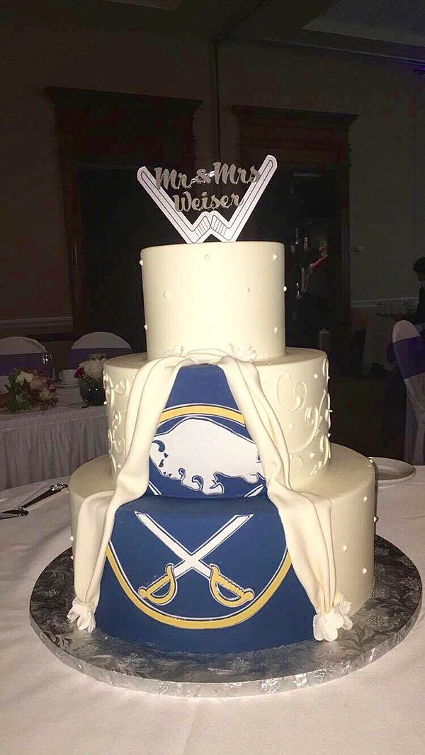 Wedding Cakes Buffalo Ny  Is This the Best Buffalo NY Themed Wedding Cake