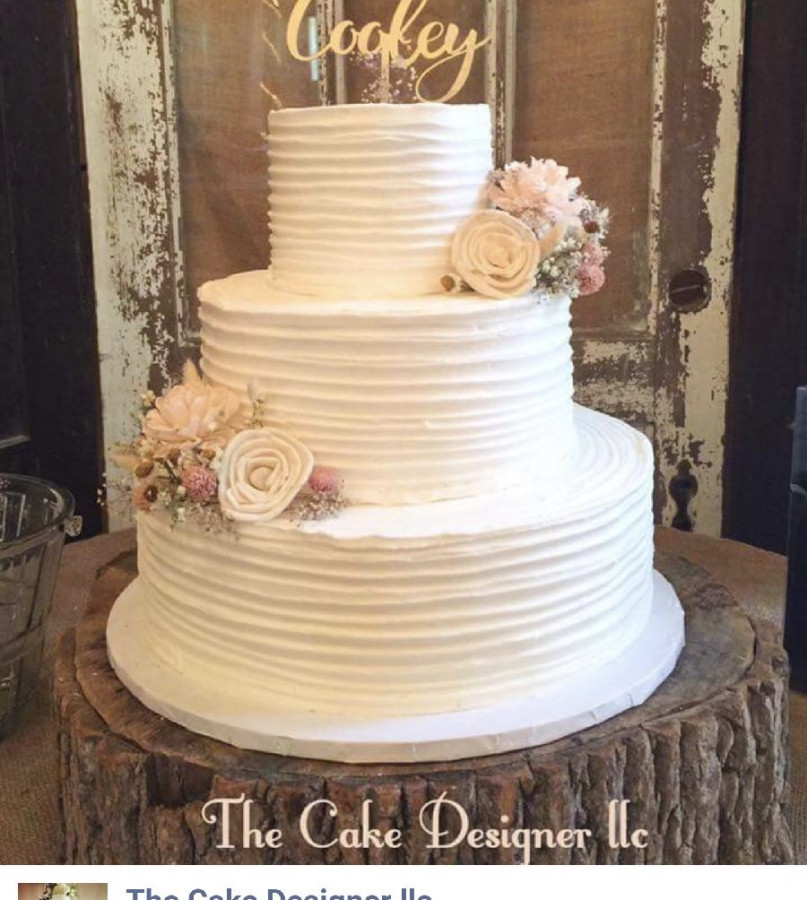 Wedding Cakes Buttercream Frosting  Rustic Buttercream Wedding Cake CakeCentral