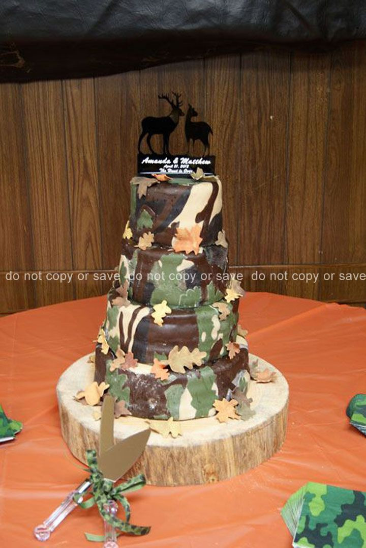 Wedding Cakes Camo  359 best Camoflauge Cakes images on Pinterest