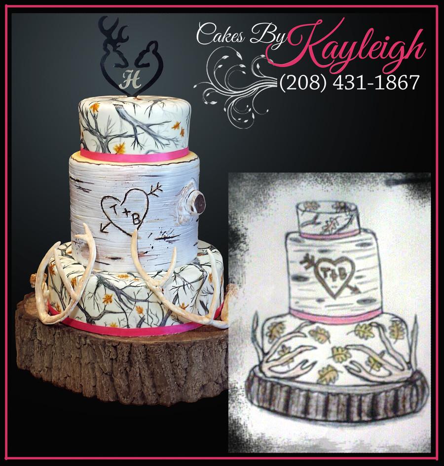 Wedding Cakes Camo  White Camouflage Wedding Cake CakeCentral