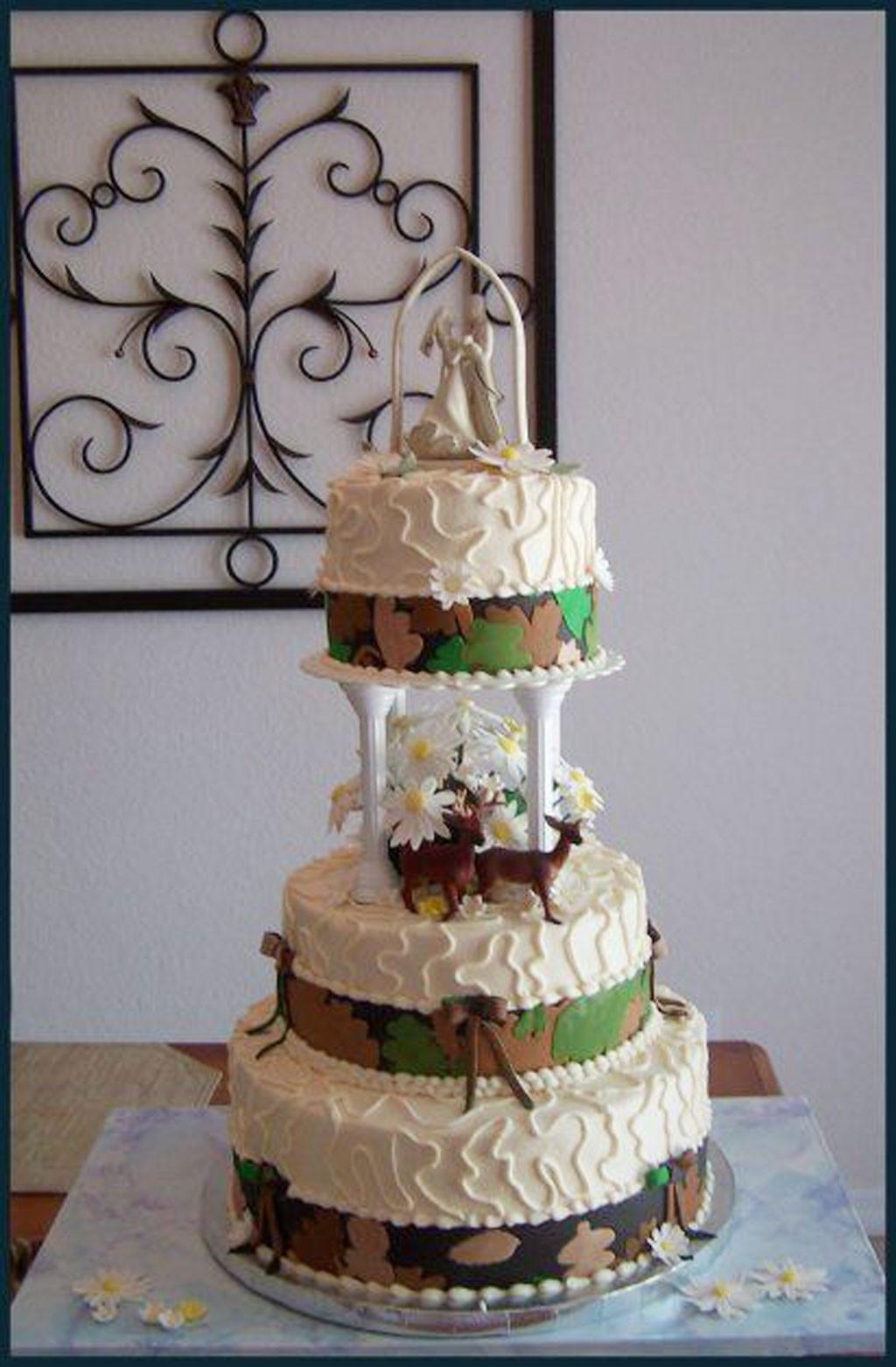 Wedding Cakes Camo  White Camouflage Wedding Cake Wedding Cake Cake Ideas by