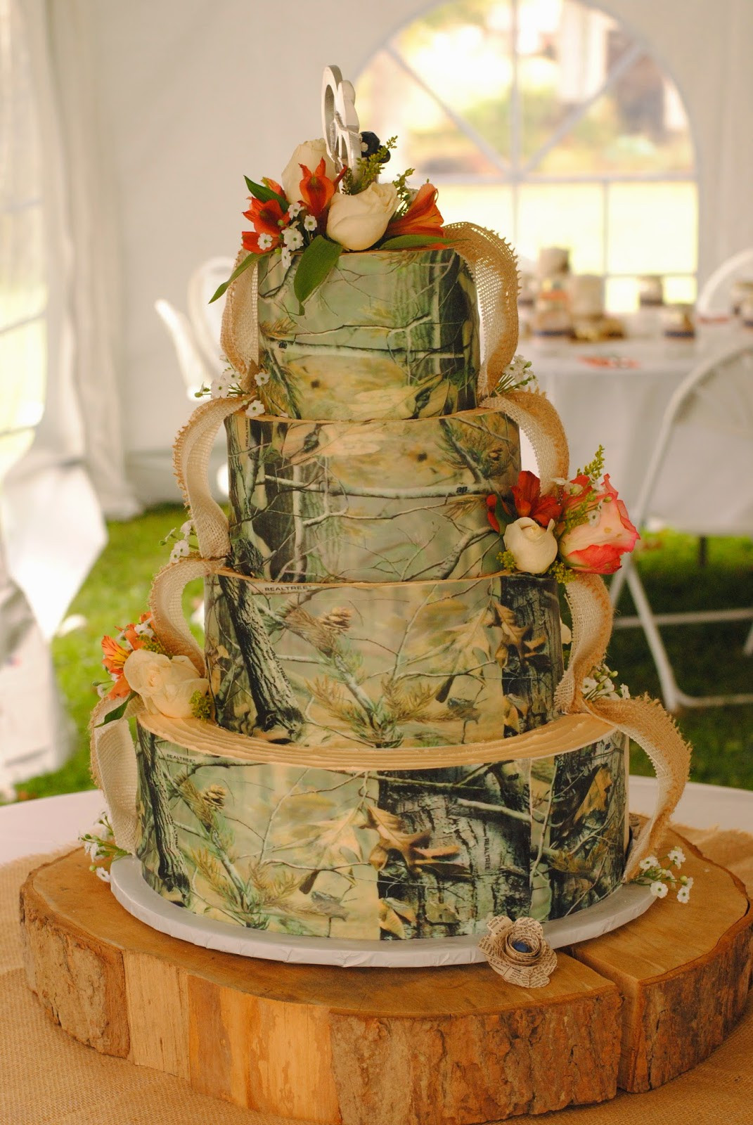Wedding Cakes Camo  Country Cupboard Cakes Camo Wedding Cake