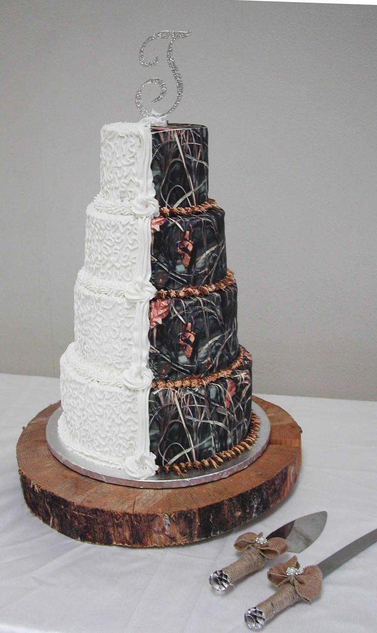 Wedding Cakes Camo  25 best ideas about Camo wedding cakes on Pinterest