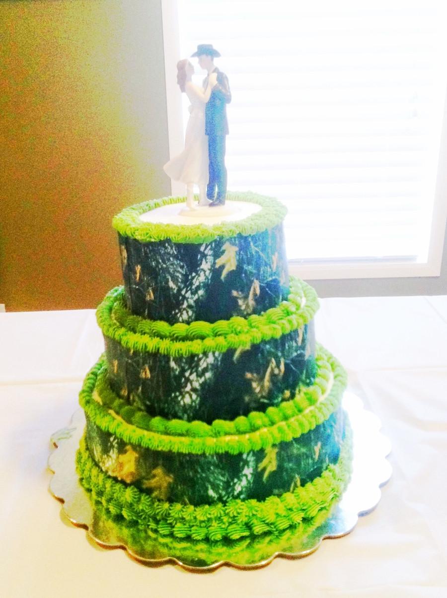 Wedding Cakes Camo  Camo Wedding Cake CakeCentral
