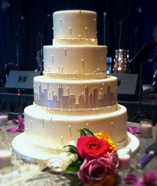 Wedding Cakes Chicago  Chicago wedding cakes idea in 2017